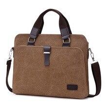 Universal Laptop Bag Men Canvas Briefcase Office Travel Messenger Shoulder Bag Portable Notebook Handbag Large-capacity Pouch