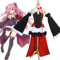 Anime Seraph Der Ende Krul Tepes Cosplay Kostüm Owari keine Seraph Vampire Halloween Uniform Kleid Kleidung + Shorts + Headwear