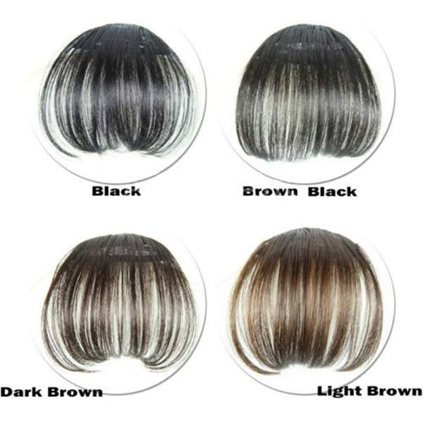 Hot Women Clip Bangs Hair Extension Fringe Hairpieces False Synthetic Hair Clips Front Neat Bang wyt77 1