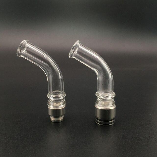 E-XY 510/810 Glass Cong Nhỏ Giọt Tip Thuốc Lá Điện Tử cái loa cho Vape RBA RTA Bồn Vaporizer Atomizer DMS