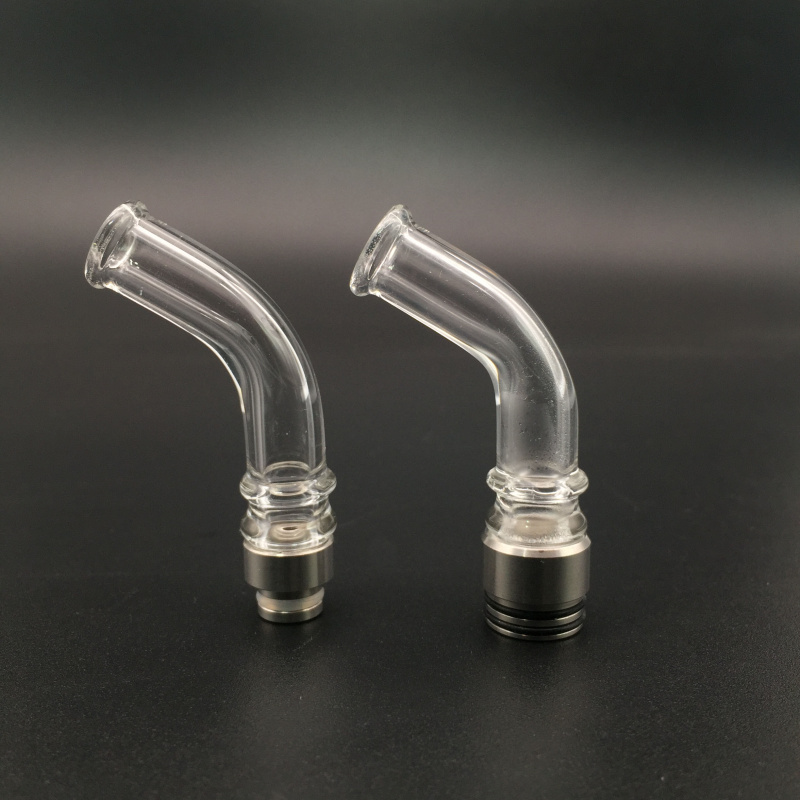 E-XY 510/810 Glass Curved Drip Tip Electronic Cigarette mouthpieces for Vape RBA RTA Tank Vaporizer Atomizer DMS free shipping 78 6969 9880 2 800lk compatible lamp with housing for 3m dms 800 dms 810 dms 815 dms 865 dms 878 s800