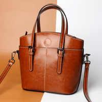 Pegar bolsas de mensajero de cuero genuino bolsos de mano bolso de cuero genuino