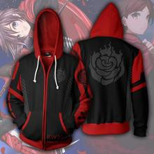 Anime RWBY Ruby Rose Cosplay Costume Hoodies Zipper Clothing hooded sweatshirt casual hoodie Coat Jacket Tops Sweater