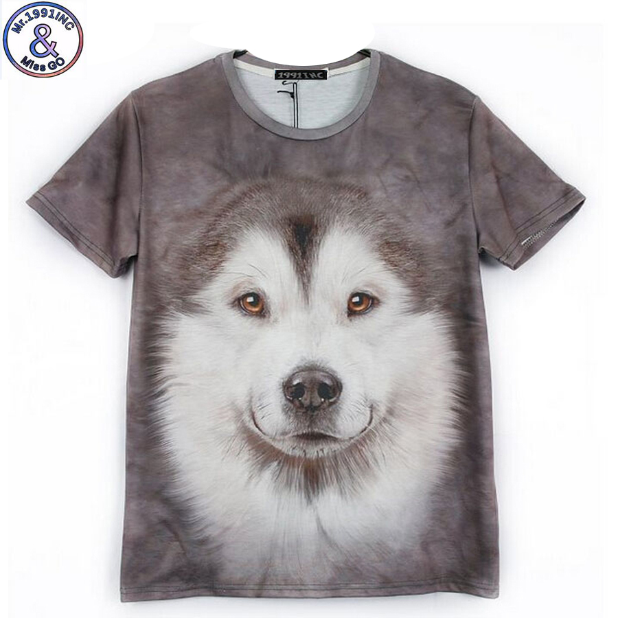 12-18 year teens boys or girls dog T-shirt new arrive Europe and America style cute dog printed 3D tshirt for big kids CT4 женская футболка other 2015 3d loose batwing harajuku tshirt t a50