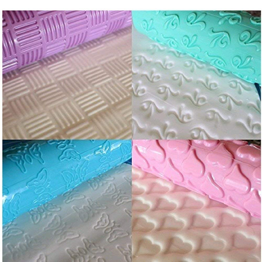 Plastic Embossing Rolling Pin as Pastry/Cake Decorating Tools in Various-Pattern 5