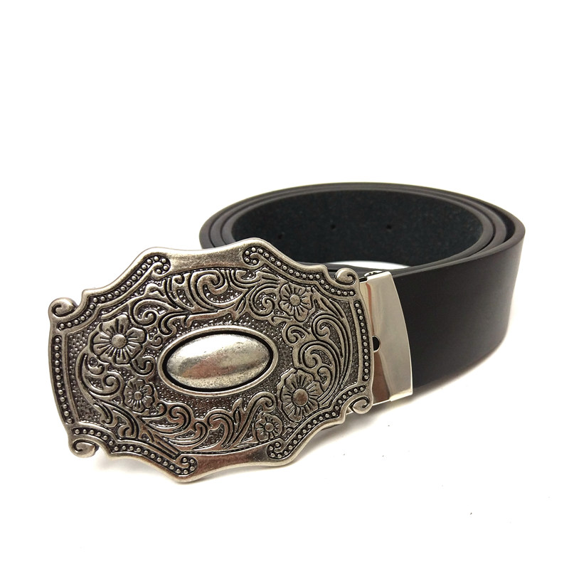 3b9c47f4c1a Western cowboy Belts for men vintage leather belt men with retro belt  buckle metal mens accessories