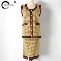 ORDEESON Runaway Vintage Cold Shoulder Check Women 2017 2 Piece Set Sexy Two Piece Outfits Skirt