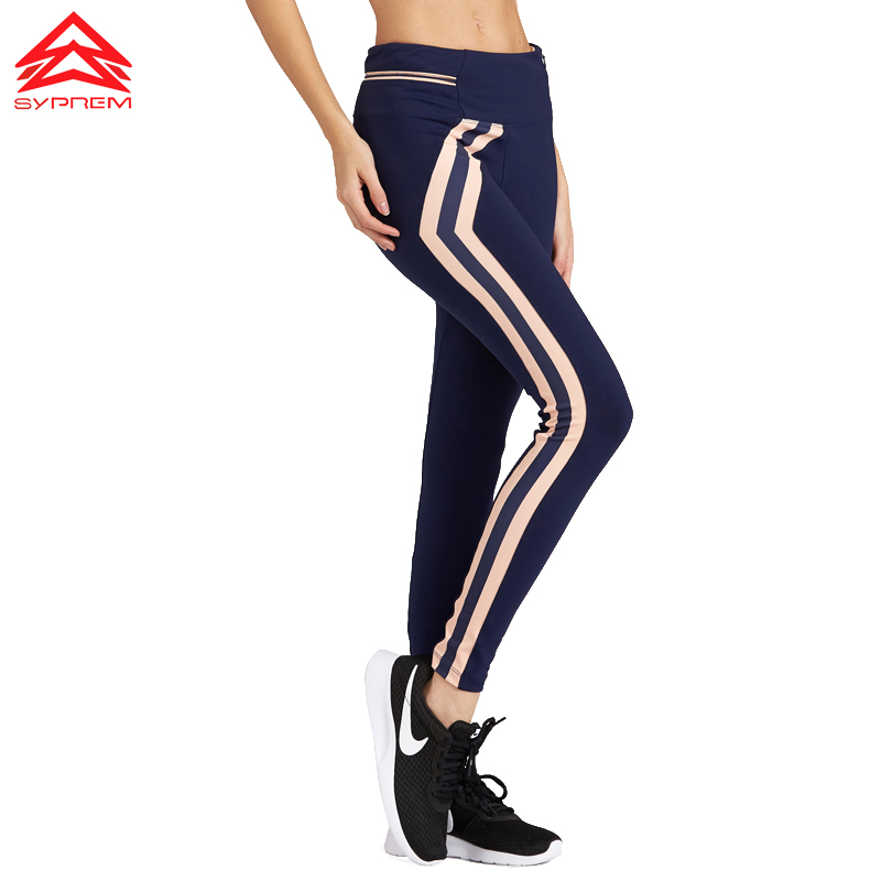 SYPREM 2017 New Style Women Yoga Byxor Högkvalitets Slim Running Fitness Leggings Bra Elastic Profession Sportbyxor, 1FP1068