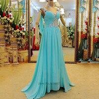 Plus size verde smeraldo prom dress 2016 giallo di cristallo chiffon ombre vestito per la laurea abiti de baile lungo abiti di sera
