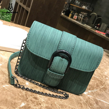 Fashion Simple Small Square Bag Women's Designer Handbag 2019 High-quality PU Leather Chain Mobile Phone Shoulder bags недорого