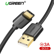 Ugreen 3A USB C Cable for Samsung Galaxy S9 Plus USB Type C Fast Charging Data Cable for Xiaomi mi 8 Oneplus 6 USB Charger Cord