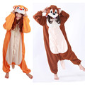 Chipmunk Onesie Adults Men Women Halloween Christmas Carnival Party Fleece Unisex Cosplay Kigu Costumes Jumpsuit
