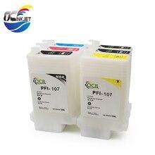 OCINKJET 130ML Empty Ink Cartridge For Canon PFI-107 Refillable Ink Cartridge Suitable For Canon IPF-670 IPF-680 IPF-685 IPF 770