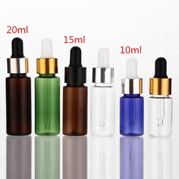 wholesale 100pcs 50ml aluminum empty toothpaste tubes w needle cap unsealed 10ml 15ml 20ml 50ml Empty PET Aluminum Dropper Oil Essential Bottle In Refillable Drop Liquid Pipette Bottles Wholesale