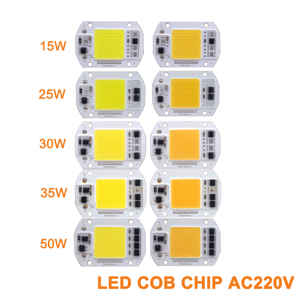 5PCS/lot COB LED Lamp Chip15W 25W 30W 35W 50W LED COB Bulb Lamp Smart IC Driver for Downlight Spotlight Floodlight lamp Bulbs 5pcs lot ic k9gag08u0e k9gag08uoe scbo k9gag08u0e scb0