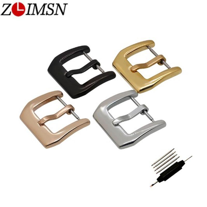 ZLIMSN Stainless Steel Buckles Watches Clasp 18 20 22 24 26mm For Men Women Watch Buckle Silver Gold Wristwatch Accessories