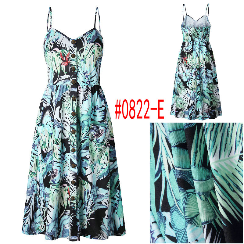 HTB1d2xmbEuF3KVjSZK9q6zVtXXav Summer Women Dress 2019 Vintage Sexy Bohemian Floral Tunic Beach Dress Sundress Pocket Red White Dress Striped Female Brand Ali9