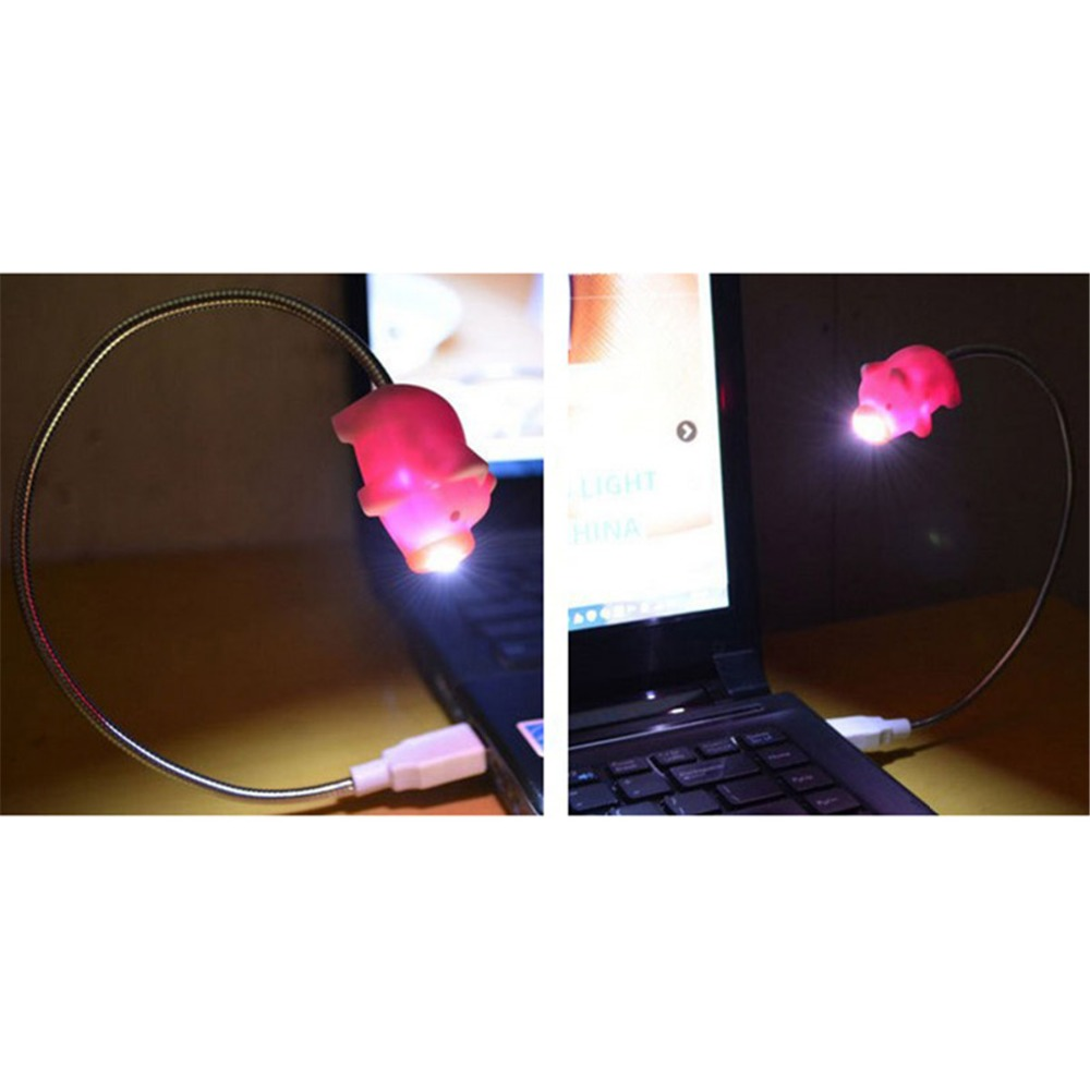 E-SMARTER Mini Pig Ghost YellowDuck Shape Adjustable USB Lights LED Lamp Laptop Desk Night Light Children Livingroom Decoration