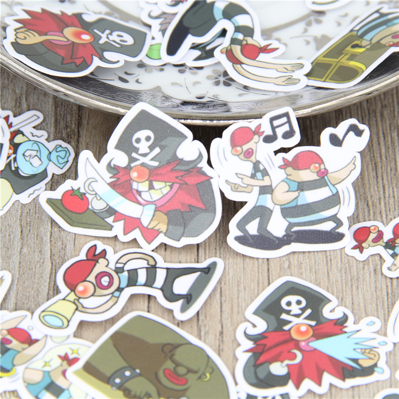 40 Pcs/lot Pirate Cartoon Expression Homemade Stickers Car Phone Suitcase Laptop Skateboard Paper Toys Sticker Decal Gifts