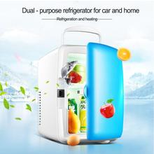 4L Car Use Refrigerators Ultra Quiet Low Noise Plug Mini Freezer Cooling Box Heating Refrigerator Travel Tool