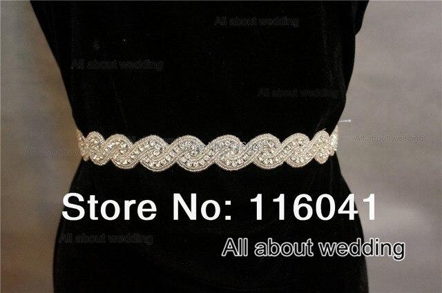 Crystal Rhinestone Bridal Belt Wedding Sash 008
