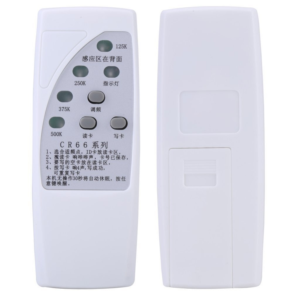 RFID ID Card Duplicator Programmer Reader Writer For 125/250/375/500KHz CR66 Copier Duplicator With Light IndicatorRFID ID Card Duplicator Programmer Reader Writer For 125/250/375/500KHz CR66 Copier Duplicator With Light Indicator