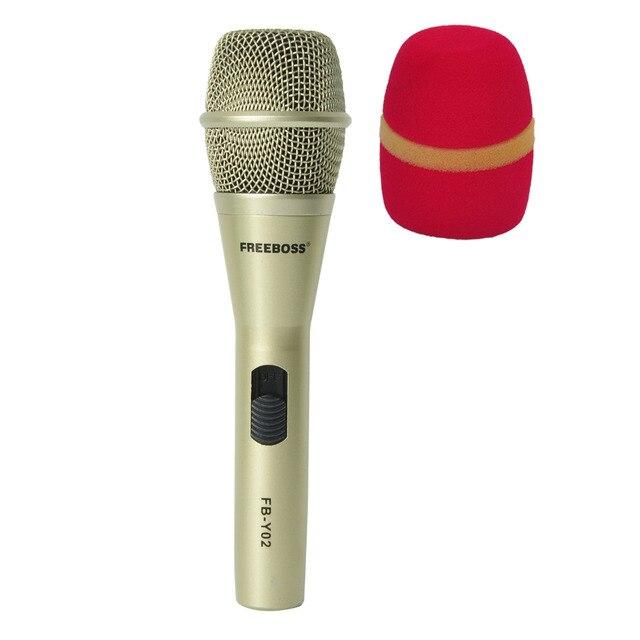 Freeboss FB Y02 venda quente de alta qualidade profissional microfone com fio para microfone karoke ktv festa