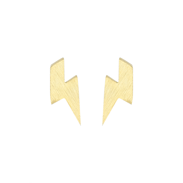 kris jewelry metallic silver pave nations earrings lightning stud bolt lyst in