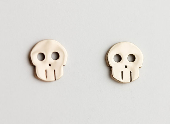 Fashion Terminator Skull Stud Earrings Jewelry For Women Whole Free Shipping