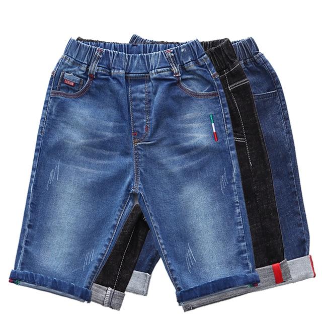 De verano de marca de 2019 adolescentes de alta calidad de moda de los muchachos de pantalones cortos de Denim Pantalones casuales de los niños ropa de deportes al aire libre