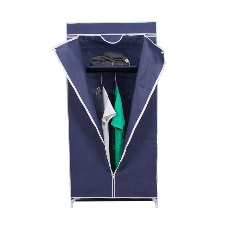 Combinaison de rangement armoire pliante armoire assemblage tuyau en acier tissu armoire non-tissé en acier cadre combinaison