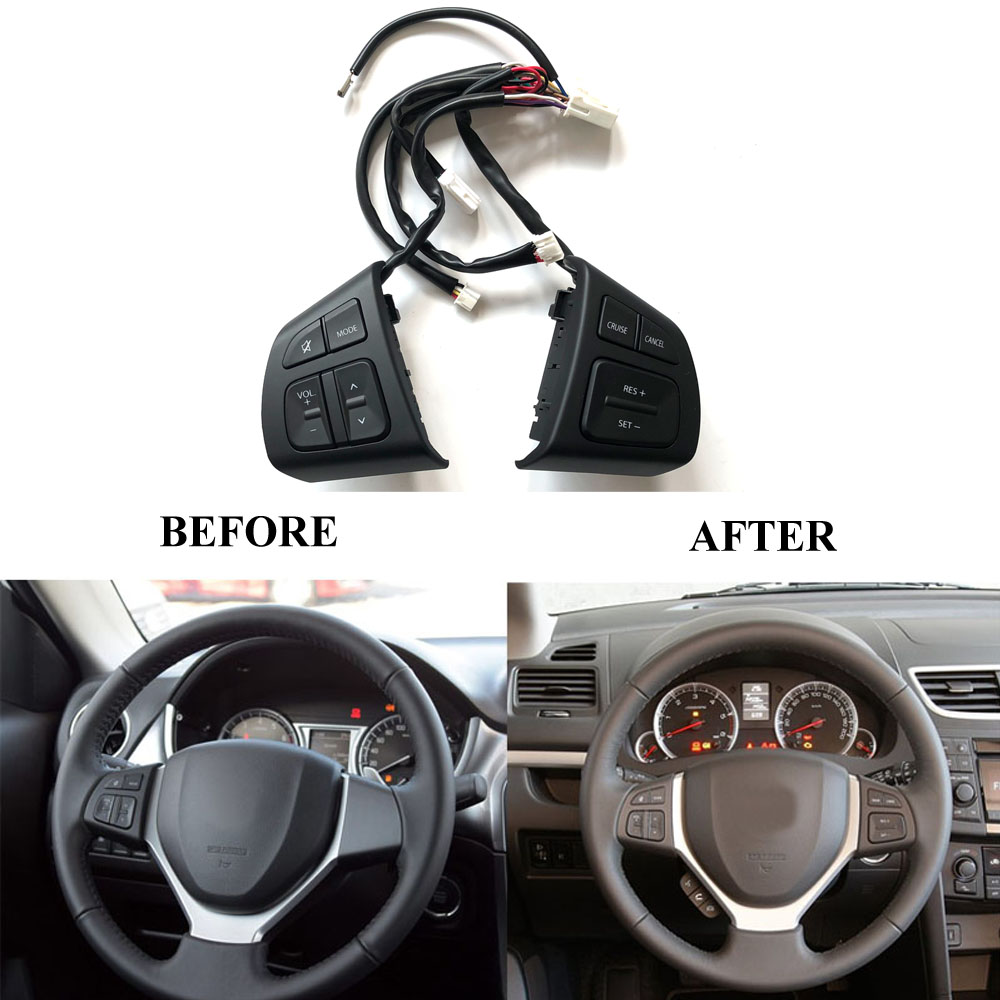 Multifunction Steering Wheel Switch Button Audio Volume Cruise Speed Control Switch Button For Suzuki Swift SX4 S-CROSS Vitara