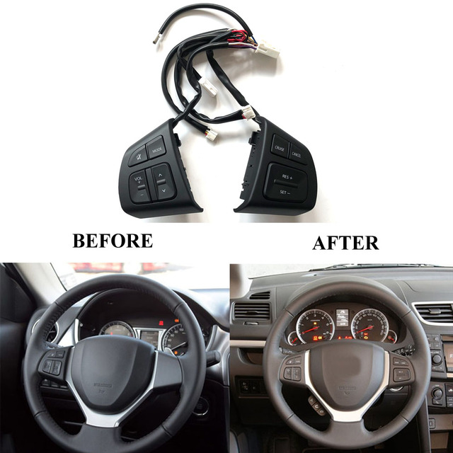 US $56 89 19% OFF|Multifunction Steering Wheel Switch Button Audio Volume  Cruise Speed Control Switch Button For Suzuki Swift SX4 S CROSS Vitara-in