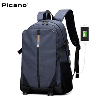 PICANO 2017 New Multifunctional Backpacks For Teenagers 15 Inch Laptop Backpack Students USB Charging Business Laptop