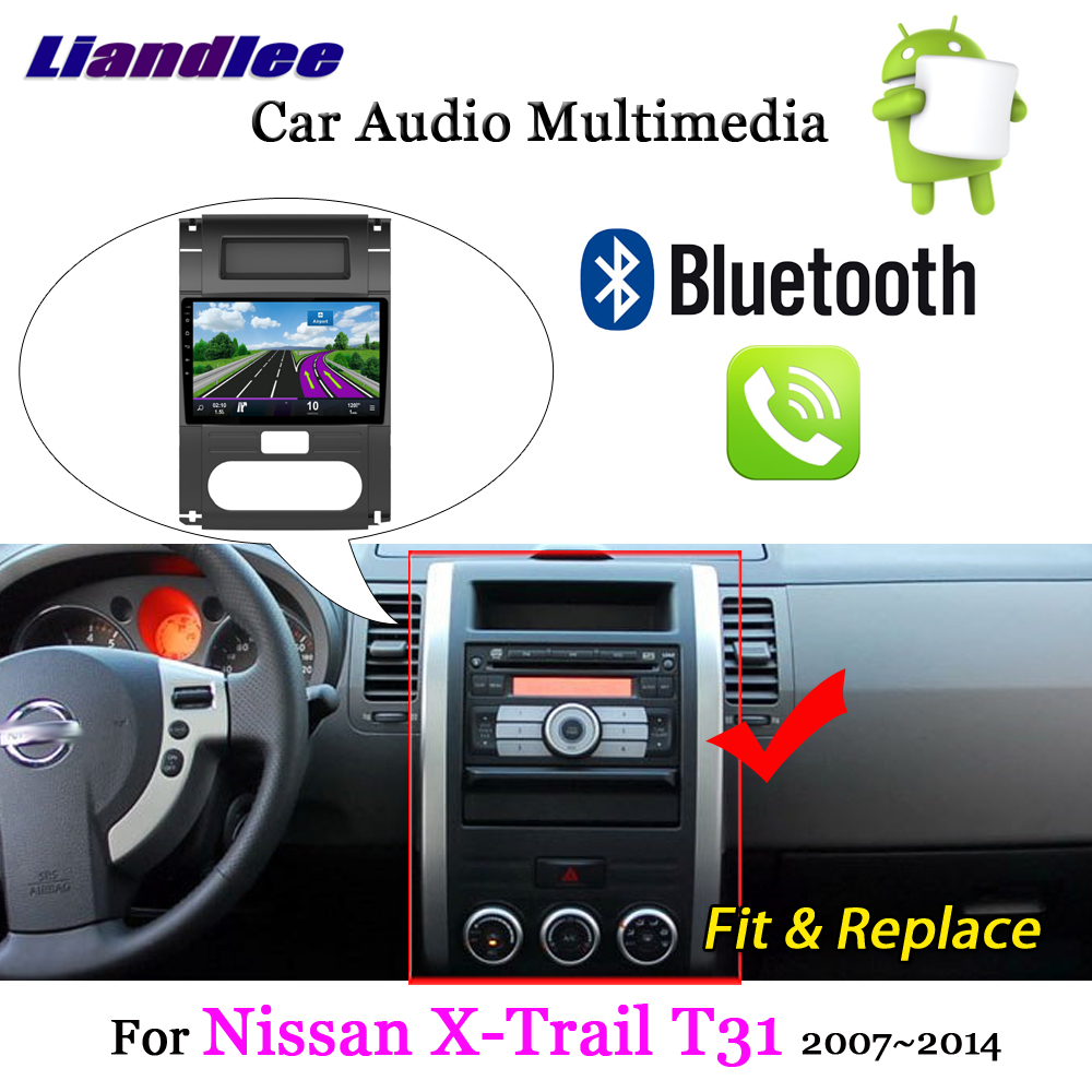 Liandlee For Nissan X-Trail T31 2007~2014 Android 7.1 System Radio Stereo Carplay Camera BT TV GPS Map Nav Navigation Multimedia
