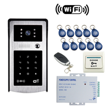 JEX 720p HD Wifi Video Doorbell Door Phone  RFID/Code/remote control/Unlock waterproof Camera