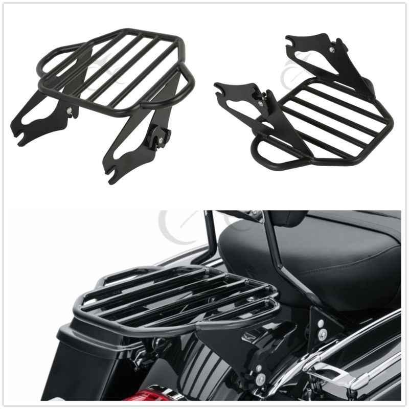 Мотоцикл турпакет багажная стойка с 4 точками док-комплект для Harley Touring модели Road King Street Electra Glide FLHX FLHR FLHT