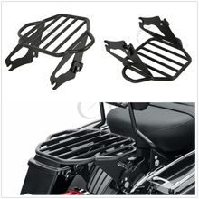 Motorcycle Tour Pak Luggage Rack W/ 4 Point Docking Kit For Harley Touring Models Road King Street Electra Glide FLHX FLHR FLHT front batwing upper fairing cowling shell for harley davidson touring models flhr flht flhx road king electra street glide new