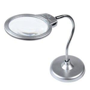 Металлический шланг складывающееся увеличительное стекло для ремонта и чтения стол увеличитель для экрана телефона lupa con luz led