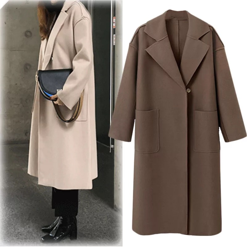 Noir Longues Manteaux Et Automne Pur De argent Manches D'hiver Femmes Tranchées Couleur Avec Mode ardoisé Nouvelle wBngqAFO