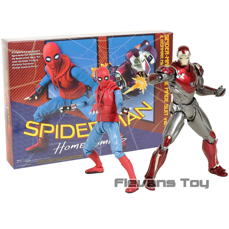 SHF SHFiguarts Iron Man Mk 47 & Spiderman costume maison Ver. Jouet à collectionner en PVC