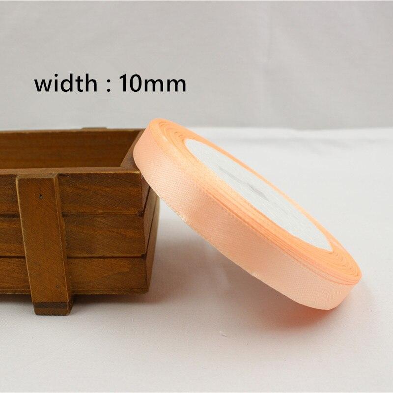 A-166910, 10 мм 31 цвет на выбор 25 ярдов шелковая атласная лента, свадебные декоративные ленты, подарочная упаковка, материалы ручной работы - Цвет: 007