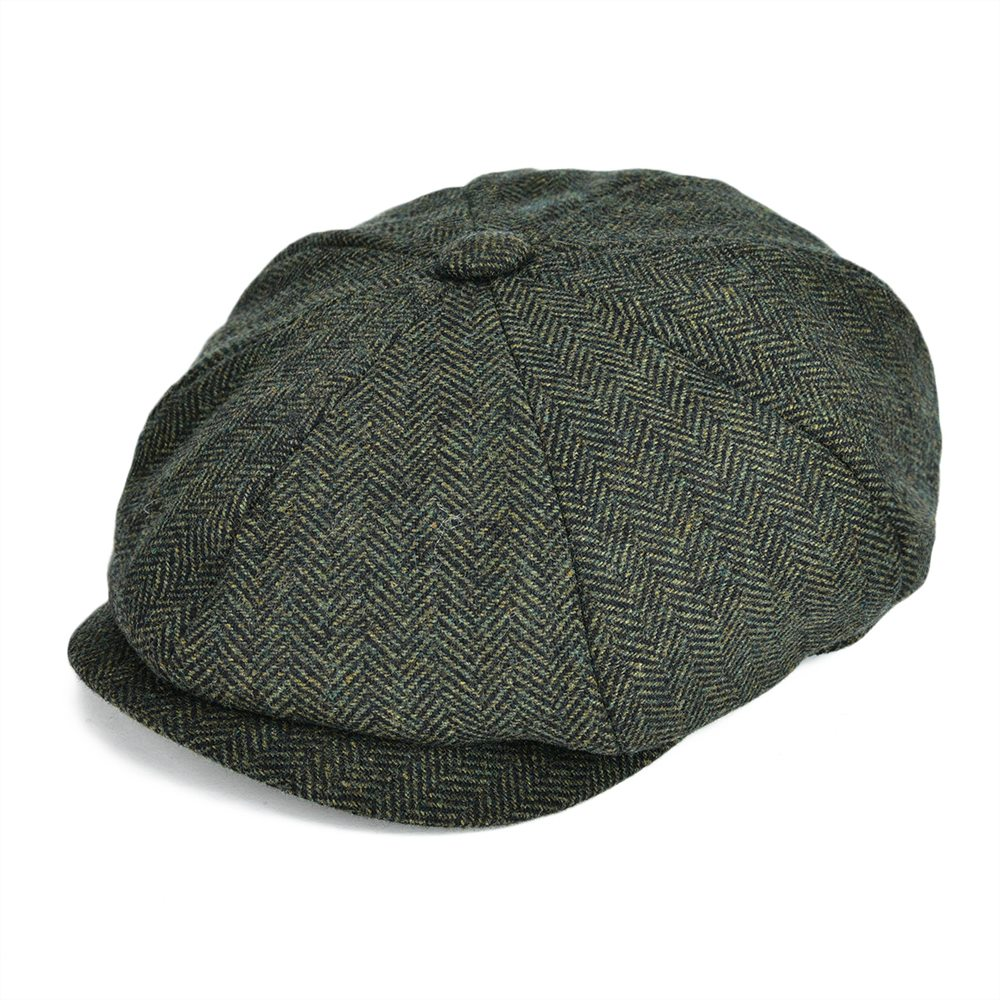 VOBOOM Woollen Tweed Newsboy Cap Men Hat Women Herringbone Mens Wool Blend Apple  Caps Autumn Winter Eight Panel Cabbie Hats 131-in Newsboy Caps from Apparel  ... 00b3e1fd390