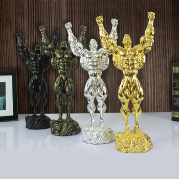 Exquisite mighty man abstract ornaments Creative Hercules home sculpture decorations handsome man