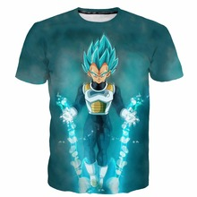 2017 New DRAGON BALL T shirt 3D Saiyan Printed Summer Tshirt Men Hot Animation Vegeta Goku tops