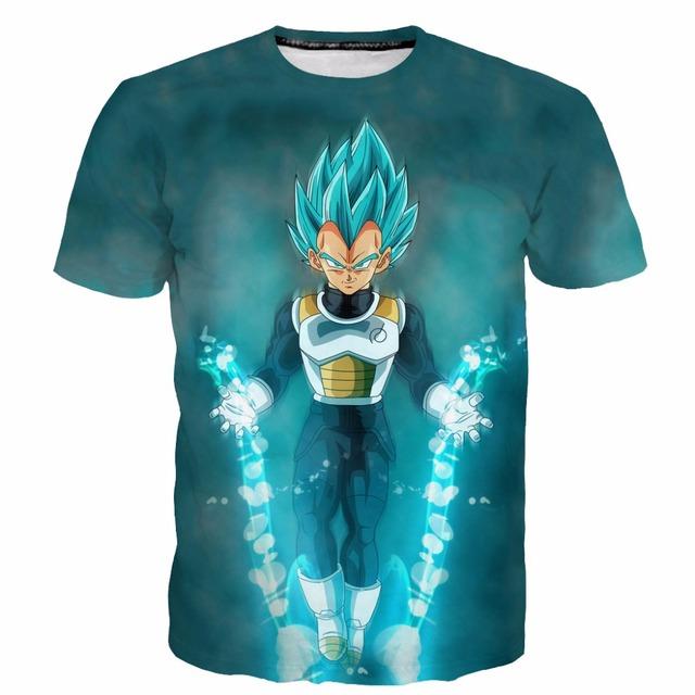 DRAGON BALL T shirt 3D SSJ Vegeta
