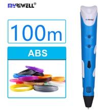 Myriwell Factory Outlet 3D Pen Add 3Color Filaments 3D Printing Pen 3D/ 1 Generation Best Children Present 3D Stereo Drawing Pen
