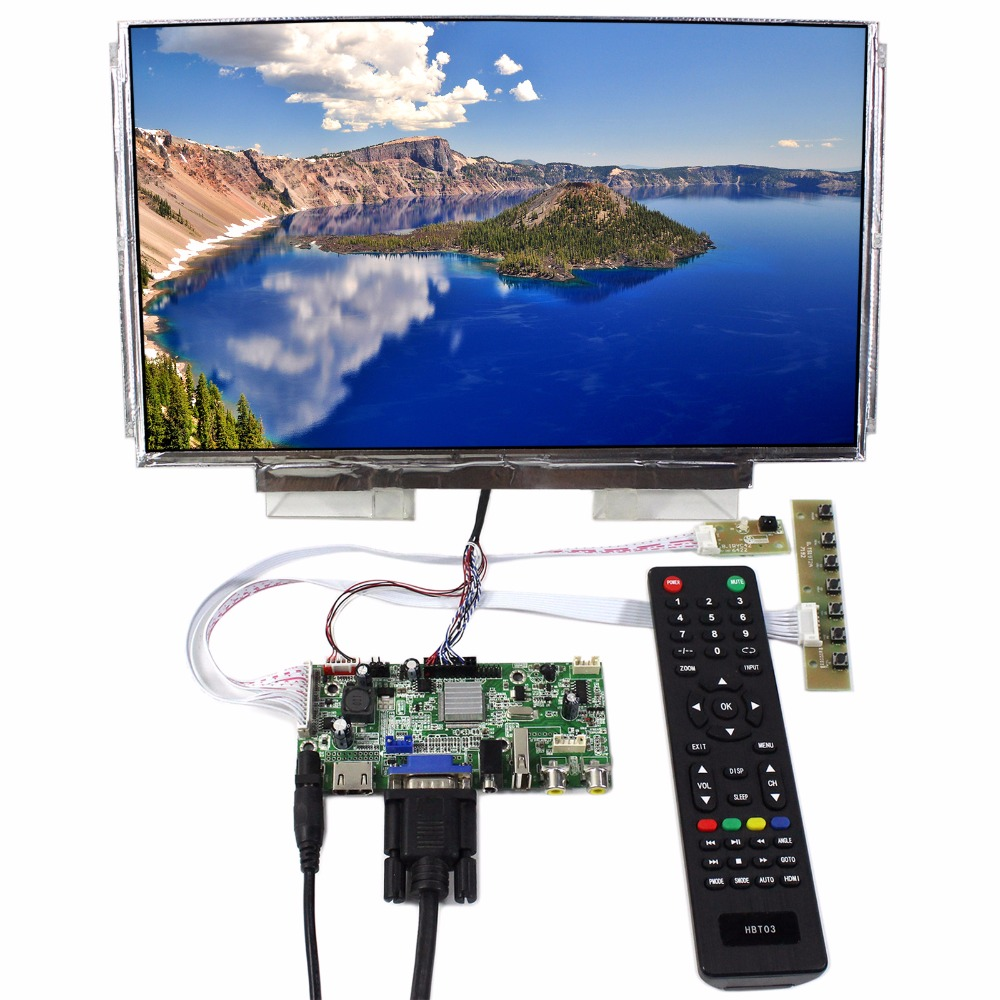 HDMI VGA AV Audio USB LCD Controller Board+13.3inch LP133WH2 N133BGE 1366x768 LCD Screen hdmi vga av audio usb fpv control board 13 3inch 1366 768 n133bge lp133wh2 lcd screen model lcd for raspberry pi