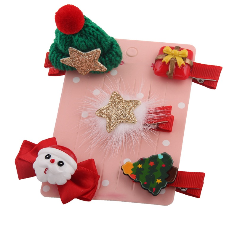 Christmas Suits Children's Head Ornaments Baby Holiday All-round Hair Clips Red Festive Spare No Cost At Any Cost