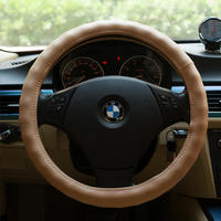 New DIY Car Breathable Racing Irregularities Steering Wheel 38CM Covers Genuine Cowhide Leather With Hole For